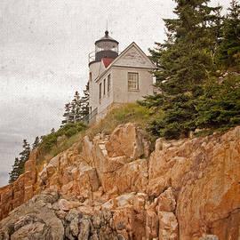 John Stephens - Painterly Bass Harbor Head Lighthouse