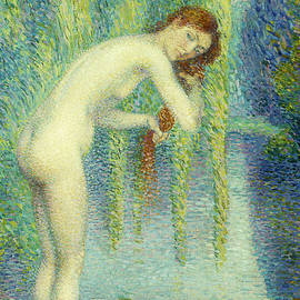 Bather Washing her Hair - Hippolyte Petitjean