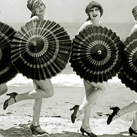 Bathing beauties with parasols - American School