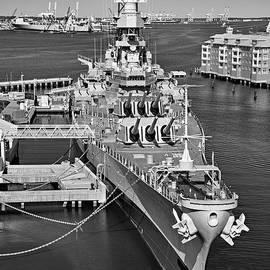 Jerry Fornarotto - Battleship Wisconsin bw