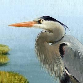 Heather Mitchell - Bayou Watch Heron