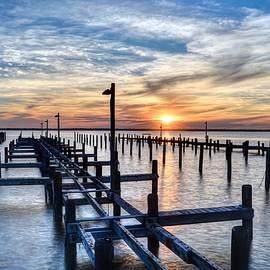Bob Cuthbert - Bayside Sunset in Seaside Park NJ