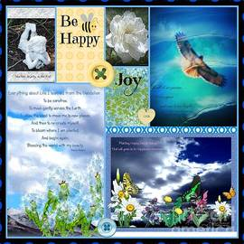 Bobbee Rickard - Be Happy Collage Design by Bobbee
