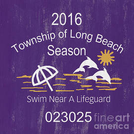Beach Badge Long Beach - Debbie DeWitt