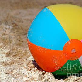 Beach Ball on Sand with Copy Space - Paul Velgos