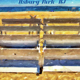 Geraldine Scull - Beach closed Asbury Park NJ