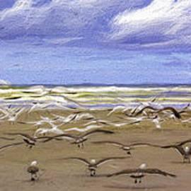 Jean OKeeffe Macro Abundance Art - Beach Flight