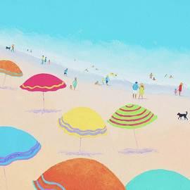 Jan Matson - Beach Painting - Bright Sunny Day