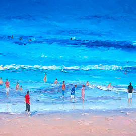 Jan Matson - Beach Painting - Last swim of the day