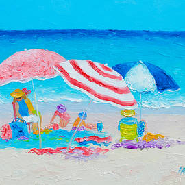 Jan Matson - Beach Painting - Summer beach vacation