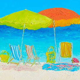 Jan Matson - Beach Painting - Sunny Days