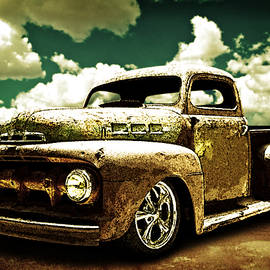 Beach Rat Rod Pickup Working on its Patina