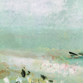 Beach with figures and a jetty - Joseph Mallord William Turner
