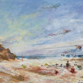 Quin Sweetman - Beachy Day - Impressionist Painting - Original Contemporary