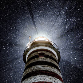 Marty Saccone - Beacon In The Night West Quoddy Head Lighthouse