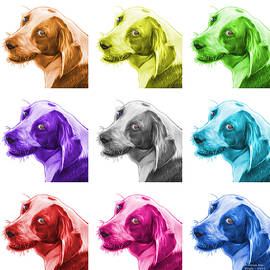 James Ahn - Beagle dog Art- 6896 - WB - M