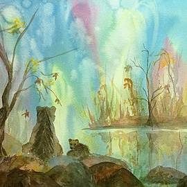 Ellen Levinson - Bears Watching the Aurora