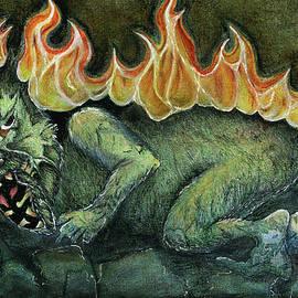 Fesky Doodles - Beast on Fire
