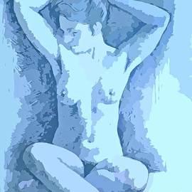 John Malone - Beautiful Blue Nude Woman