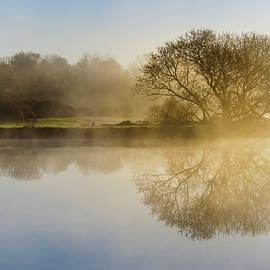 Christina Rollo - Beautiful Misty River Sunrise