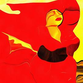 Catherine Lott - Beautiful Red Acrylic