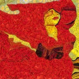 Catherine Lott - Beautiful Red Mixed Art