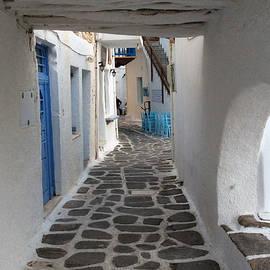 Colette V Hera  Guggenheim  - Beauty in Naoussa village Paros