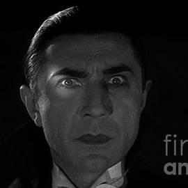R Muirhead Art - Bela Lugosi  Dracula 1931 and his piercing eyes