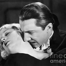 R Muirhead Art - Bela Lugosi  Dracula 1931  feast on Mina Helen Chandler