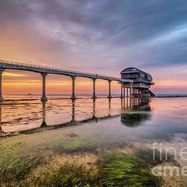 English Landscapes - Bembridge Lifeboat Sunset