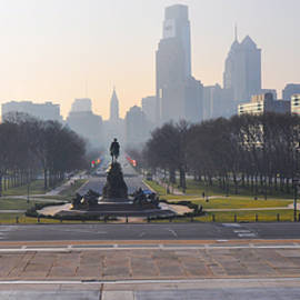 Bill Cannon - Benjamin Franklin Parkway in Panorama