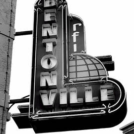 Ann Powell - Bentonville Sign Black and White - photography