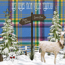 Vickie Emms - Best Wishes From Yukon Territory Card