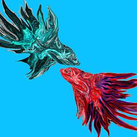 Abstract Angel Artist Stephen K - Betta Fish Dancing