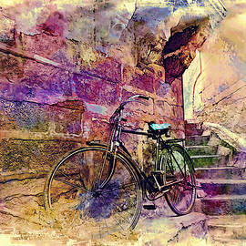 Sue Jacobi - Bicycle Abandoned in India Rajasthan Blue City 1a