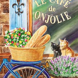 Irina Sztukowski - Bicycle With Basket At The Cafe Window