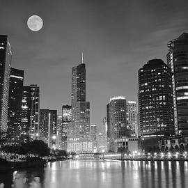 Frozen in Time Fine Art Photography - Big Full Chicago Moon