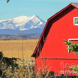Bob Lentz - Big Red Barn and Mountains
