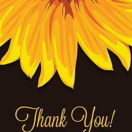 JH Designs - Big Sunflower Thank You