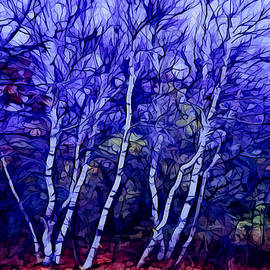 Lilia D - Birches in the blue