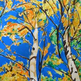 Esther Newman-Cohen - BirchTrees in Fall
