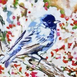 Catherine Lott - Bird Blue Fragmented