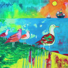 Rafael Fischer - Bird of Valparaiso port