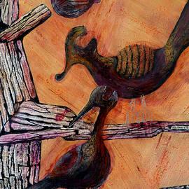 Szilvia Ponyiczki - Birds - Tree of life artwork fragment