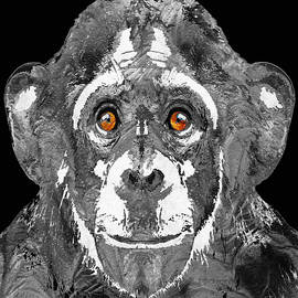 Sharon Cummings - Black And White Art - Monkey Business 2 - By Sharon Cummings