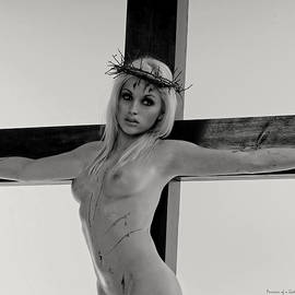 Ramon Martinez - Black and White Crucifix I