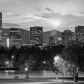 Gregory Ballos - Black and White Denver Colorado Downtown Skyline