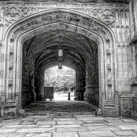 Geraldine Scull - Black and white Gothic Building at Princeton