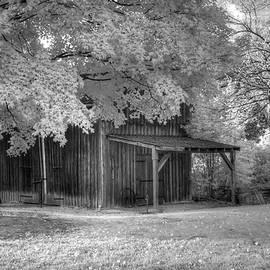 Jane Linders - Black and White infrared barn