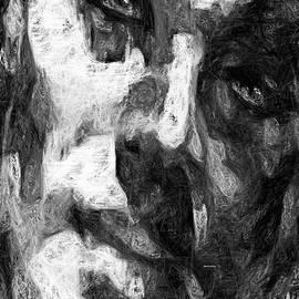 Rafael Salazar - Black and White Male Face